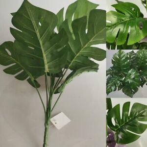 12 Kopf Fächerpalme Große Monstera Kunstpflanzen Kunstpalmen künstliche Palme