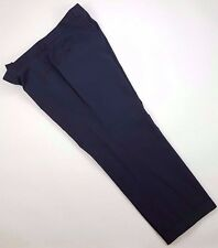 HUGO Boss PANTS 41 28 Gray MENS Micro STRIPE Parker TROUSER Flat FRONT Cuffed SZ