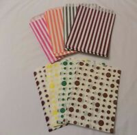 "Candy Sweet  Paper Party Gift Bags Wedding Birthday Spot or Stripe 7""x 9"""
