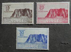 Norway 1930 regular issue, Mi #159-161, unused, CV=200EUR