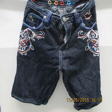 COOGI Jean Shorts, Embroidered in Front & Back, Waist 34 X Length 15