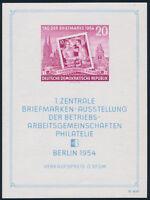 DDR 1954, Block 10 III, tadellos postfrisch, gepr. Schönherr, Mi. 350,-