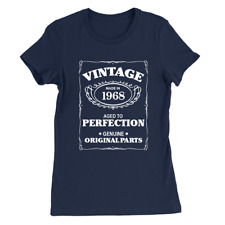 Aged To Perfection 1968 Womens T-Shirt 50th Birthday 50 Years Old Gift Top