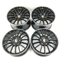 Set Genuine Porsche 997 Carrera C4 C4S Sport Design Black & Silver Alloy Wheels