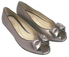 Ladies' Peep Toe Wedge Shoe Van Dal Santa Cruz Metal / Black UK Size 3.5 EE Fit