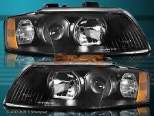 02-05 Audi A4 4-Door Sedan / Wagon Quattro Halogen Headlights Black