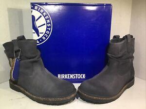 Birkenstock Womens Size 11 EU 42 Luton Graphite Suede Ankle Boots ZB6-1128