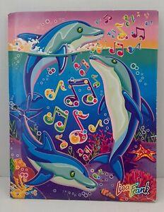 Vintage Lisa Frank 3-Hole Pocket Folder Three Dolphins Music Notes #8493 Pretty