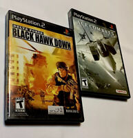 Ace Combat 5 and Black Hawk Down PlayStation 2 PS2 Lot of 2 Games COMPLETE