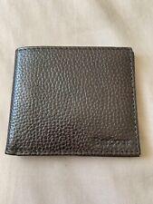 Men's Barbour Brown Leather Wallet - 6 Card Bi-Fold