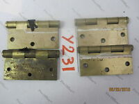 Mixed Lot of 4 Steel Door Hinges 3.5'' x 3.5''; 2 QTY National MFG 1 QTY STANLEY