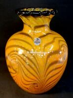 "Fenton Art Glass Dave Fetty ""Cut Flowers"" Hand Blown Vase LIMITED EDITION"