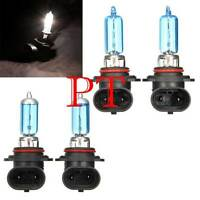4pcs HID 9006/9005 5000K Xenon White Headlight High/Low Beam Halogen Bulbs #x6