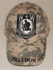 Wounded Warrior Digital Camouflage US Military Ball Cap Honor & Sacrifice.