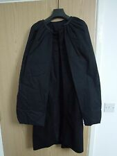 Rick Owens FW11 black Leather-trimmed double-layer cape coat Size GB10