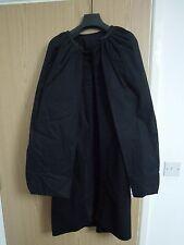 Rick Owens FW11 en cuir noir-Découpé Double-couche cape manteau taille GB10