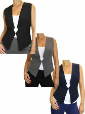 Polyester V Neck Regular Size Waistcoats for Women