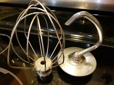 Kitchen Aid Wire Whip Beater Mixer and Dough Hook. Fits Attachment 4.5 Qt New