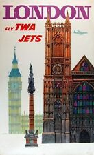 GREAT BRITAIN VINTAGE TRAVEL POSTER London RARE NEW