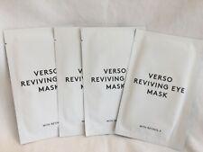 Verso Lot 4 x Reviving Eye Mask w/ Retinol 8 Exp 4/2020 Hydrogel Mask *$60 Value