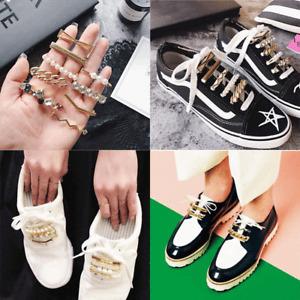 Shoelaces Decoration White Pearl Shoe Accessories Women Shoes Clips Accessory