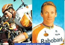 CYCLISME carte  cycliste ADRIE VAN DER POEL équipe RABOBANK