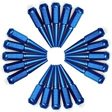 Long Spike Lug Nuts 9/16-18 Acorn fit Dodge Ram 1500 Magnum Hemi Rumble Bee Blue