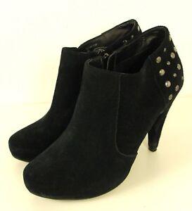 COX Stiefelette Ankle Boots Nieten Leder Schwarz Gr. 40 (DW19)
