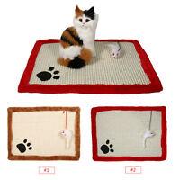 Cute Toy Pet Cat Kitten Scratch Scratching Post Claws Mat Sisal Hemp Pad Bed CO