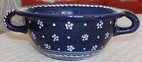 Gmundner Keramik Weidling, Blau geblumt, gebraucht