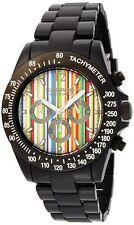 NEW K&BROS 9517-4 Mens Ice-Time Racing Chronograph Paul Multi G-Stripe Watch 50M