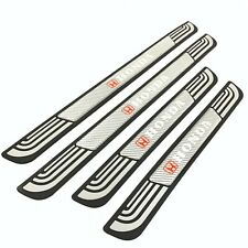 4PCS Silver Rubber Car Door Scuff Sill Cover Panel Step Protector For Honda