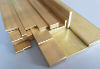 """CZ121 Brass Flat Bar 3/8"""", 1/2"""", 5/8"""", 3/4"""", 1"""" & 1 1/4"""" Wide 1/8"""" & 1/4"""" Thick"""