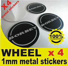 tapas llantas ruedas BORBET BLACK wheel center caps 4x metal STICKERS