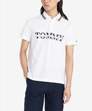 Tommy Hilfiger  Men's Big and Tall Lance Logo Polo NWT White Size L