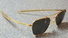 AO American Optical Command Gold Military Pilot Aviator Sunglasses USA Flat