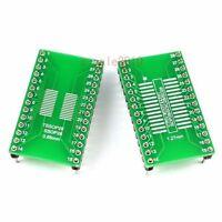 10 PCS SO SOP SOIC SSOP TSSOP28 to DIP28 Adapter PCB Board Converter Gold B44