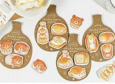 Lot 4 Bakery Animal Dog Cat Bear Bread Sticker Sticky Notes Memo Pad Kawaii Cute