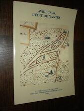 AVRIL 1598, L'EDIT DE NANTES - Calvados 1998