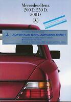 0518MB Mercedes 200D 250D 300D W124 Prospekt 1985 11/85 brochure prospectus Auto