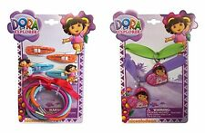 Dora The Explorer BFF Best Friend Necklaces Boots + Hair Clips and Hair Ties NEW