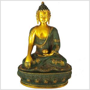 Erdender Buddha 33cm 4kg Art Antik Bhumisparsa Mudra Buddhismus Muladhara