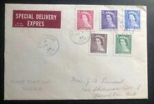 1953 Hamilton Canada First Day Cover Fdc Queen Elizabeth Coronation Qe2