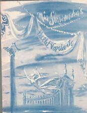 Mia Slavenska & Ballet Variante 1949 1950 Season Program Anna Istomina
