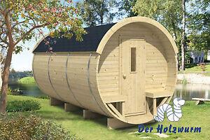 Campingfass Holz 215x330 cm Holzhaus 28/42 mm Holzfass Fass Ferienhaus Neu