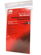Gardner Bender 42-028 Wire Marker Booklet A-Z 0-15 & Symbols