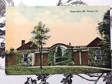 Entrance Texas Gate Mt Vernon Virginia Vtg Postcard Unposted Washington Home