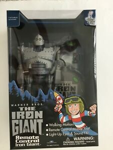 The Iron Giant Remote Control Walking + Sounds  Lights Missile Sealed 1999
