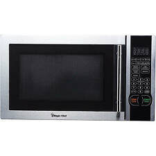 Magic Chef - 1.1 Cu. Ft. Mid-Size Microwave - Stainless-Steel  665679003075
