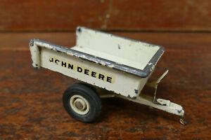 RARE Vintage 1970's John Deere Patio Lawn Tractor Mower White Trailer ERTL 1/16